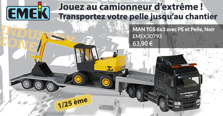 jouets camions porte engins