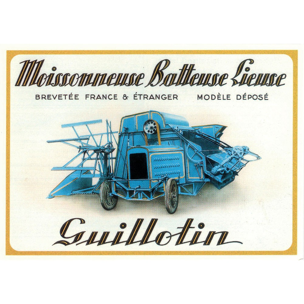 Carte Postale Moissonneuse Batteuse Lieuse GUILLOTIN