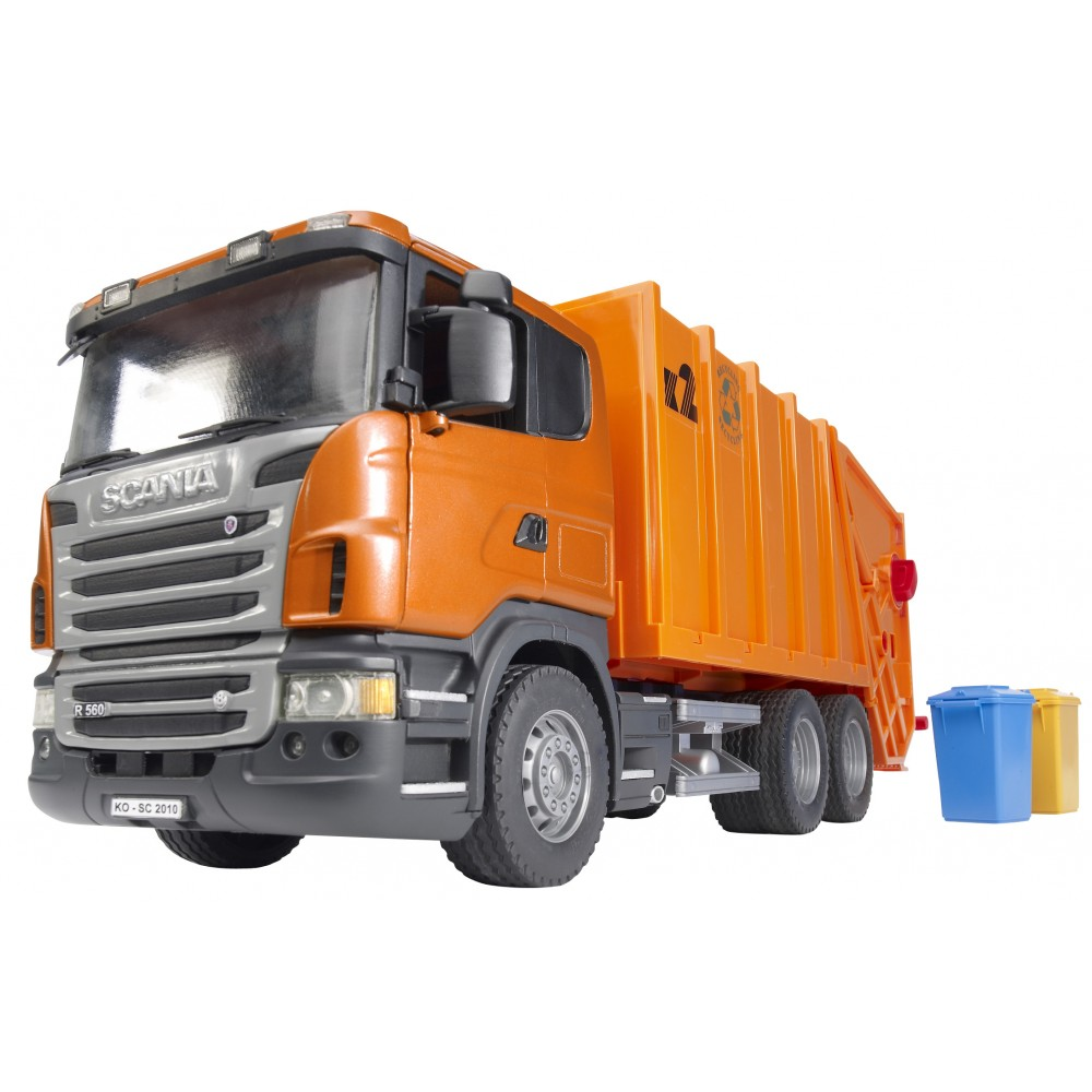 Camion poubelle SCANIA, orange