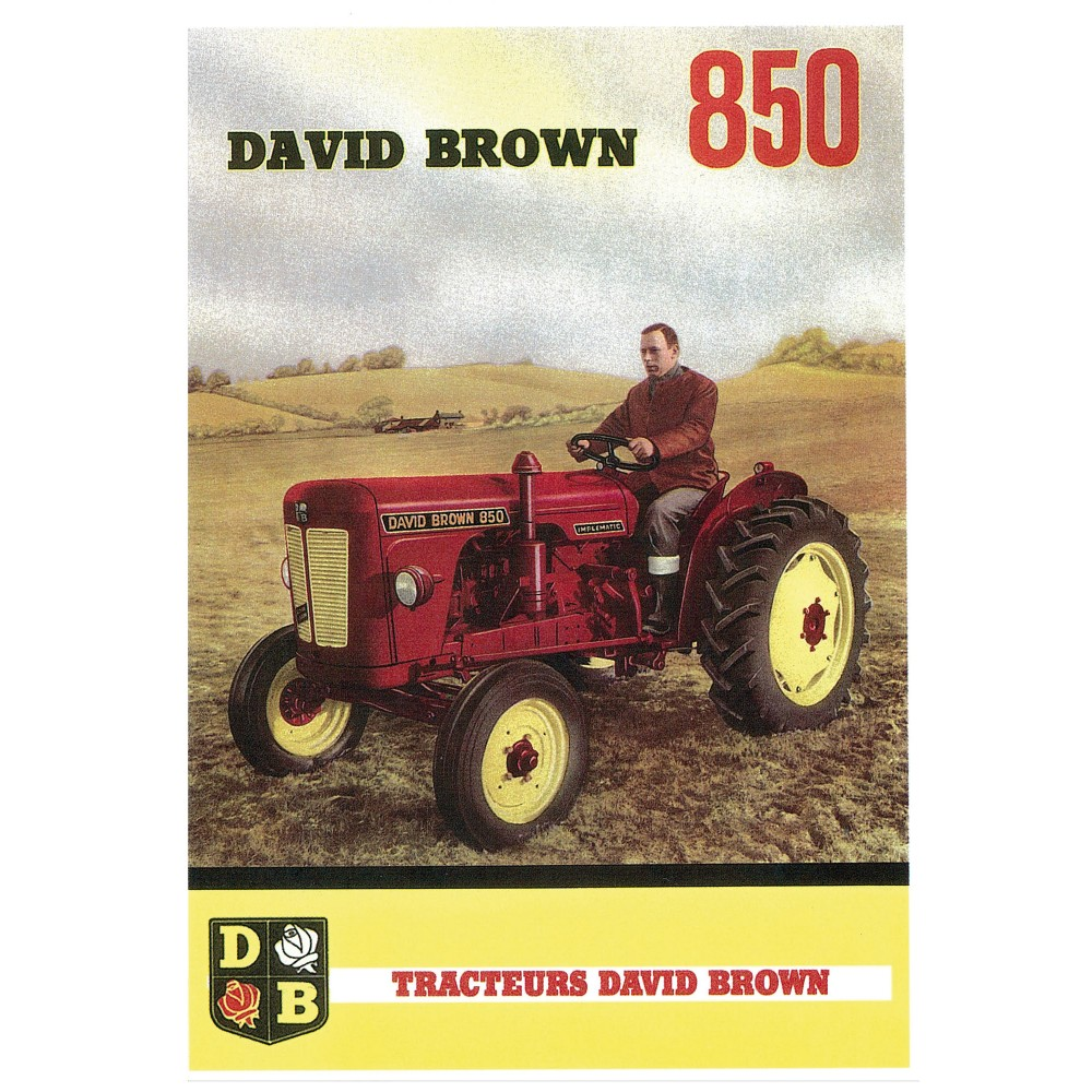 Tracteur DAVID BROWN 850