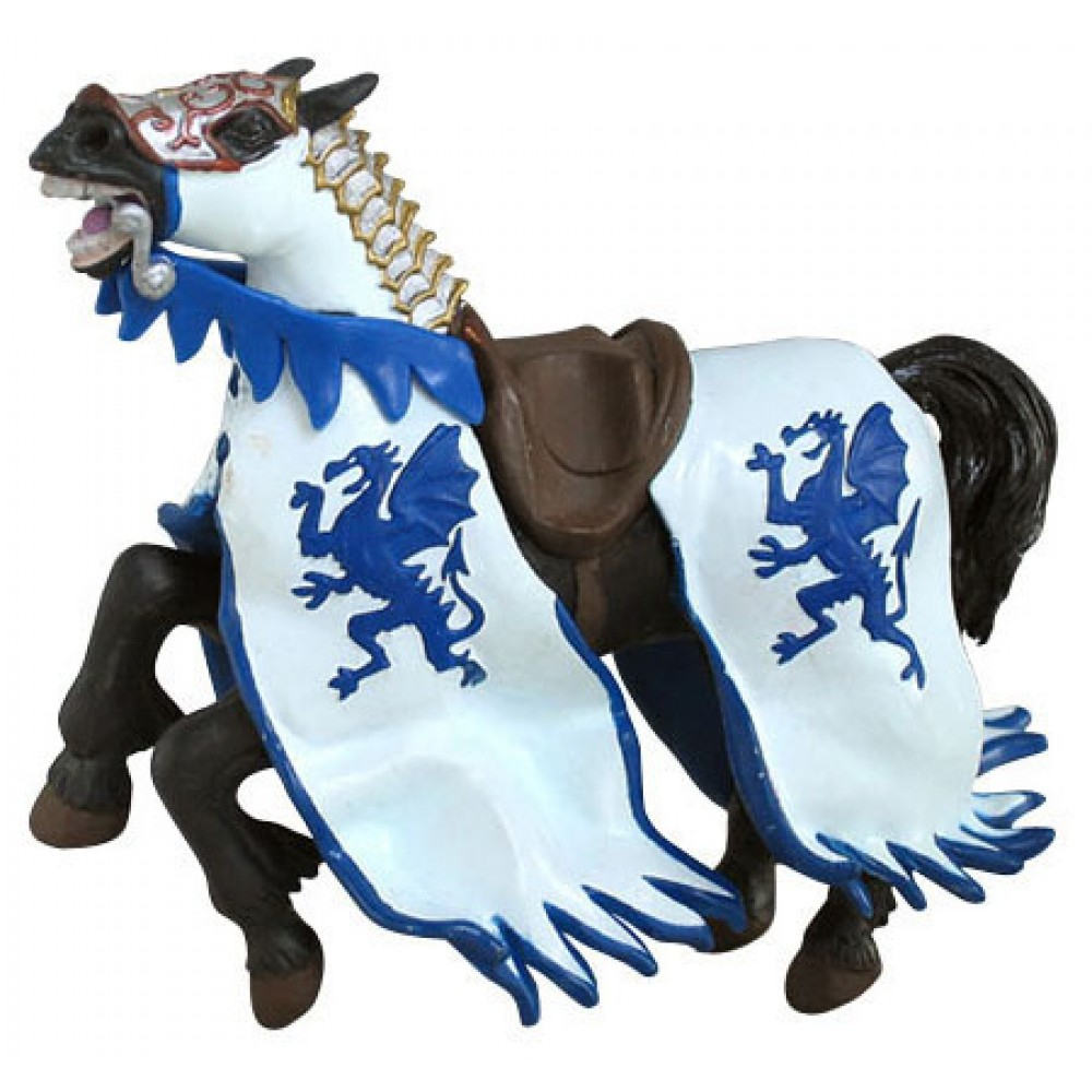 Cheval au dragon bleu