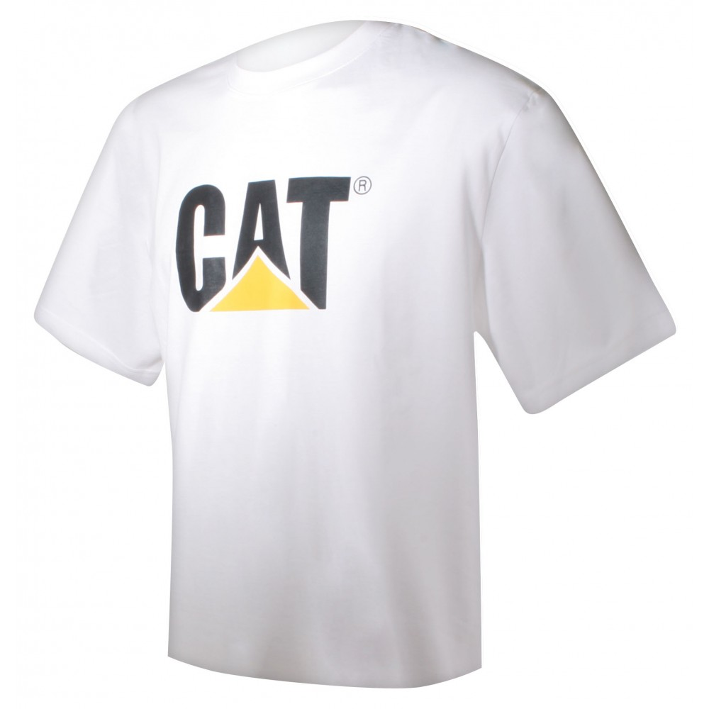 T-Shirt Adulte blanc avec logo CAT