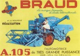 Carte Postale : Moissonneuse Batteuse BRAUD A105