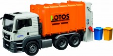 Camion poubelle MAN, orange