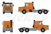 SCANIA T142 Torpedo 6x4, orange  69,99 € (Acompte de réservation 25,00 €)